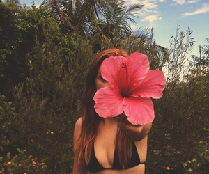 flower, girl, and summer image