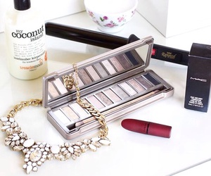lipstick, necklace, and makeup image
