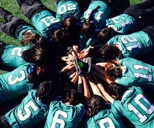 girls, softball, and team image