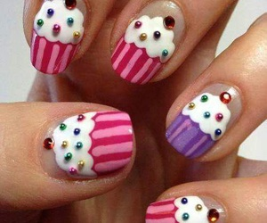 nails, cupcake, and pink image