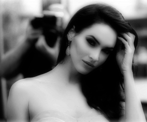 megan fox, sexy, and black and white image