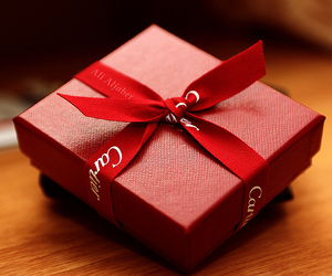 cartier, gift, and red image