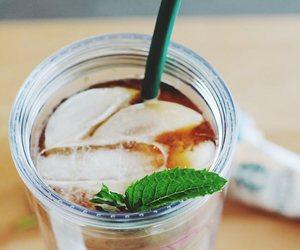 coffee, mint, and starbucks image