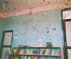 room, book, and world image