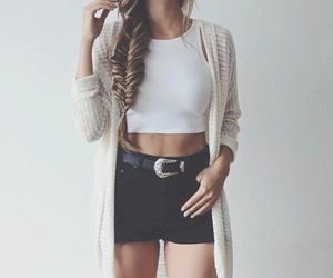 fashion, outfit, and braid image