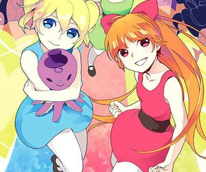 anime and powerpuff girls image