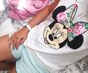 blue, disney, and minnie image