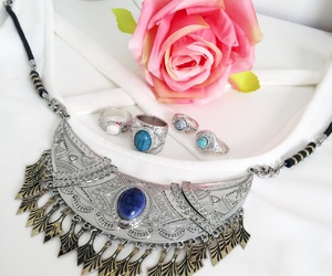 jewels, necklace, and rings image