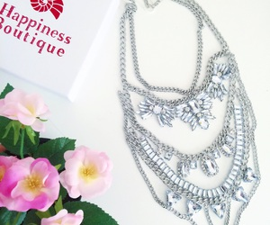 flowers, jewels, and necklace image
