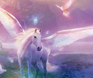 unicorn, horse, and fantasy image
