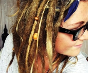 beads, dreadlocks, and girls image