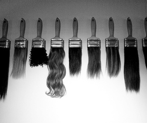 hair, Brushes, and photography image
