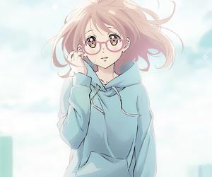 kyoukai no kanata, kuriyama mirai, and anime image