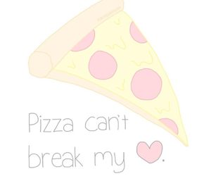 heart, pizza, and cute image