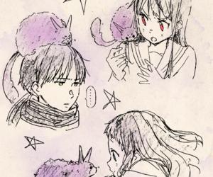 kyoukai no kanata and kuriyama mirai image