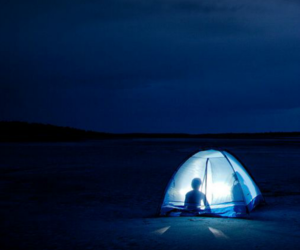 night, camping, and light image