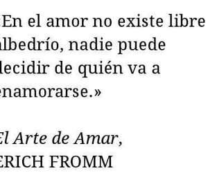 enamorado, erich fromm, and amor image