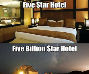 nature, stars, and hotel image