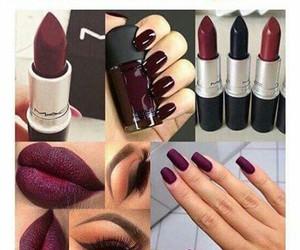 nails, makeup, and fall image