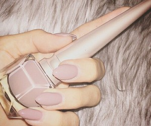 nails, luxury, and Nude image