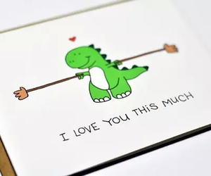 love, cute, and dinosaur image
