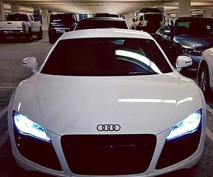 car, audi, and white image