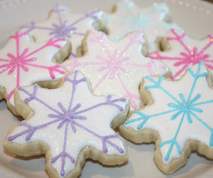 christmas, snowflakes, and icing image