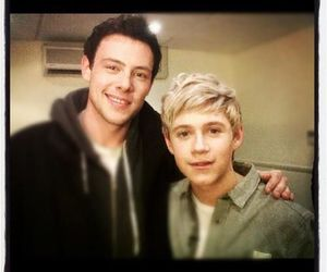 glee, cory monteith, and niall horan image