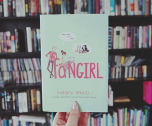 books, library, and fangirl image