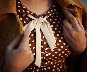 vintage, dress, and polka dots image