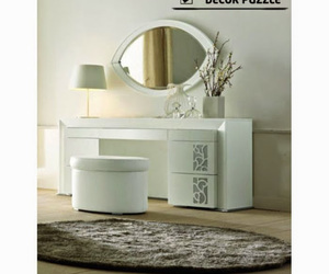 dressing table, dressing tables, and white dressing table image