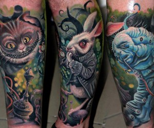 tattoo and alice in wonderland image