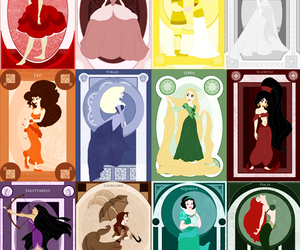 zodiac, disney, and princess image