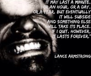 lance armstrong, strong, and quote image