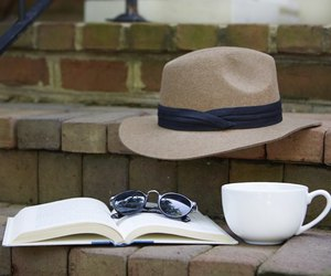 boy, coffee, and hat image