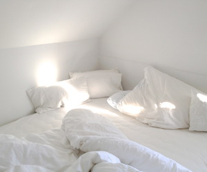 bed, morning, and bedroom image