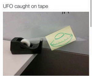 funny, tape, and ufo image