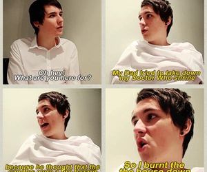 danisnotonfire, dan howell, and doctor who image