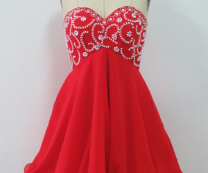 homecoming dress, red prom dress, and short prom dress image