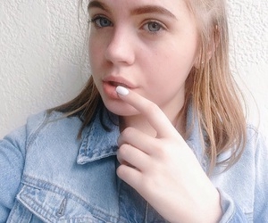 blonde, eyes, and pretty image