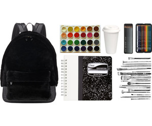art, back, and backpack image