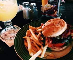 food, fries, and hungry image
