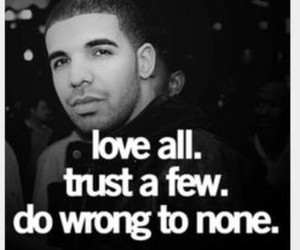 quote, Drake, and trust image