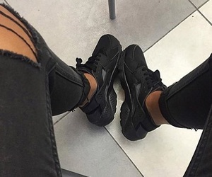 black, jeans, and nike image