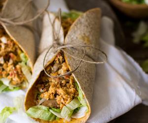 eggs, tortilla, and mushroom image
