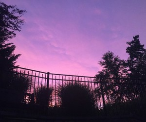 sky, sunset, and purple image
