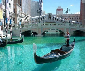 Las Vegas, venice, and boat image