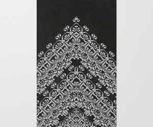 black, ornament, and white image