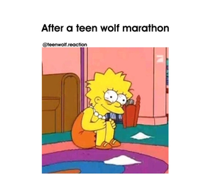 teen wolf, Marathon, and simpsons image