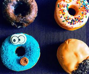 cookie monster, dessert, and donuts image